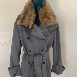 Bekstaff Wool/Cashmere Bridstone Fur Coat